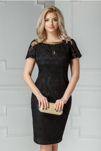 Compleu Radmila negru cu rochie si broderie