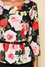 Compleu Sara negru cu imprimeu floral