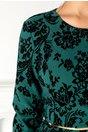 Compleu Sara negru-verde cu insertii din catifea