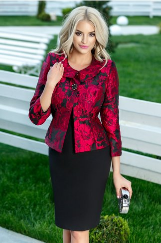 Compleu Scarlet de ocazie elegant rosu