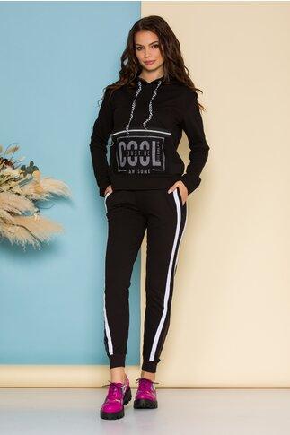 Compleu sport Cool negru cu alb