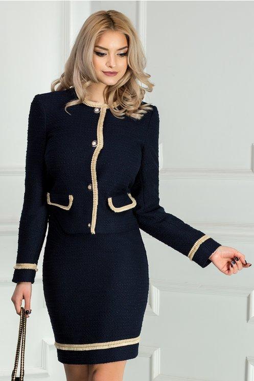 Compleu Xara Sofia bleumarin de ocazie