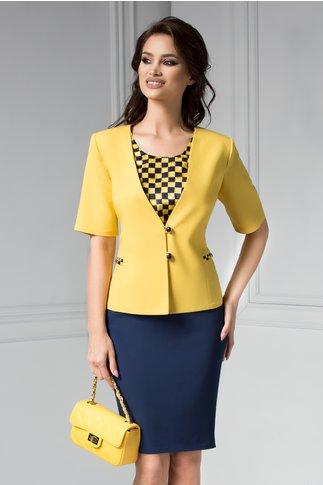 Costum dama galben din 3 piese office de zi