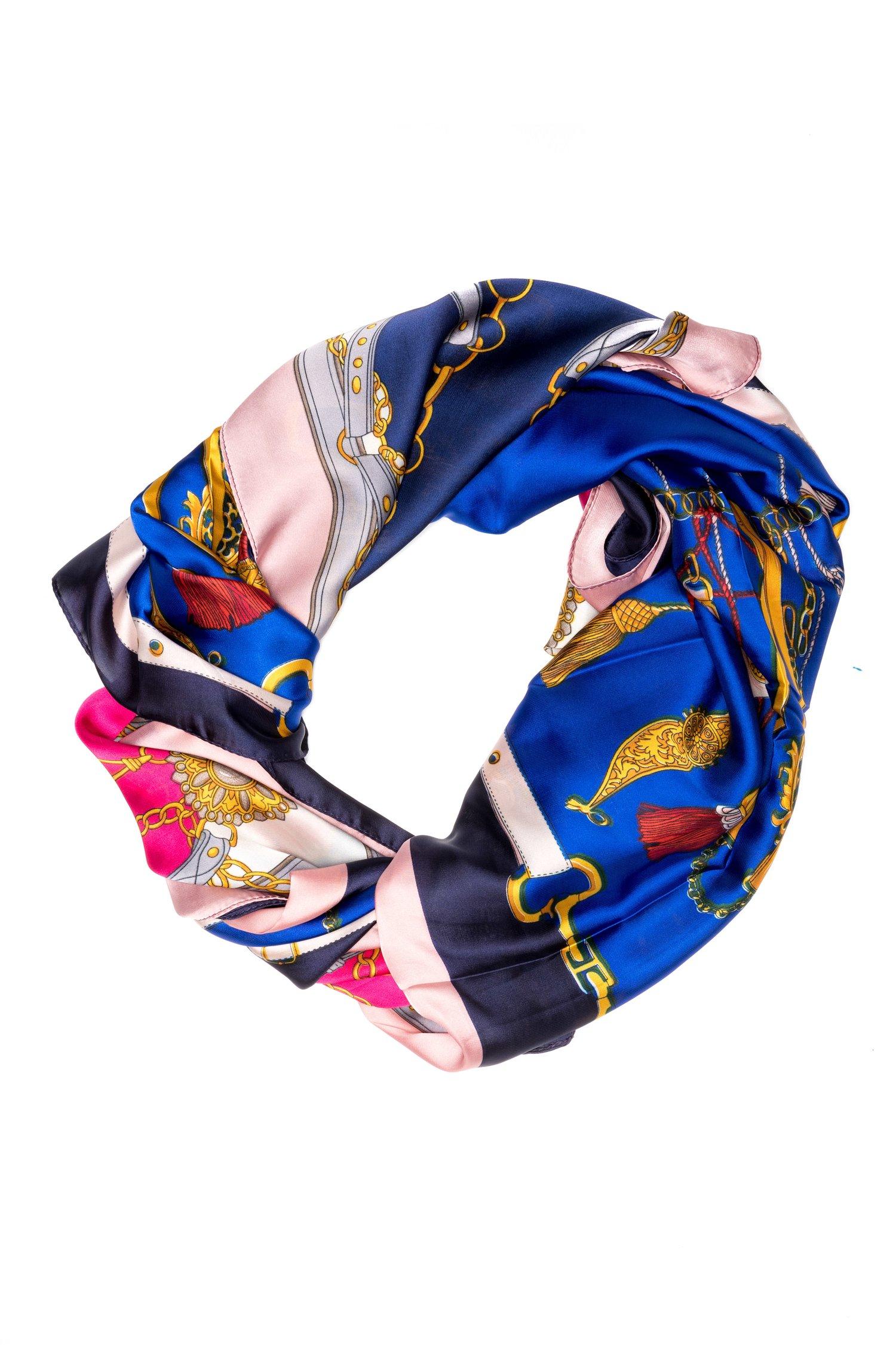 Esarfa albastra cu detalii fashion thumbnail