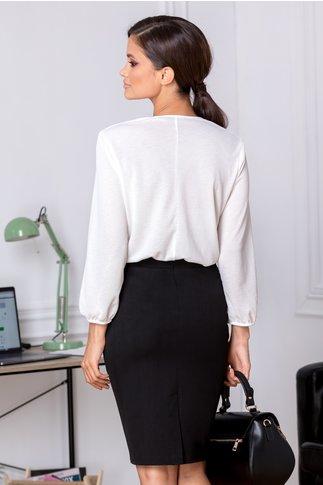 Fusta Annie neagra office cu detaliu delicat in talie