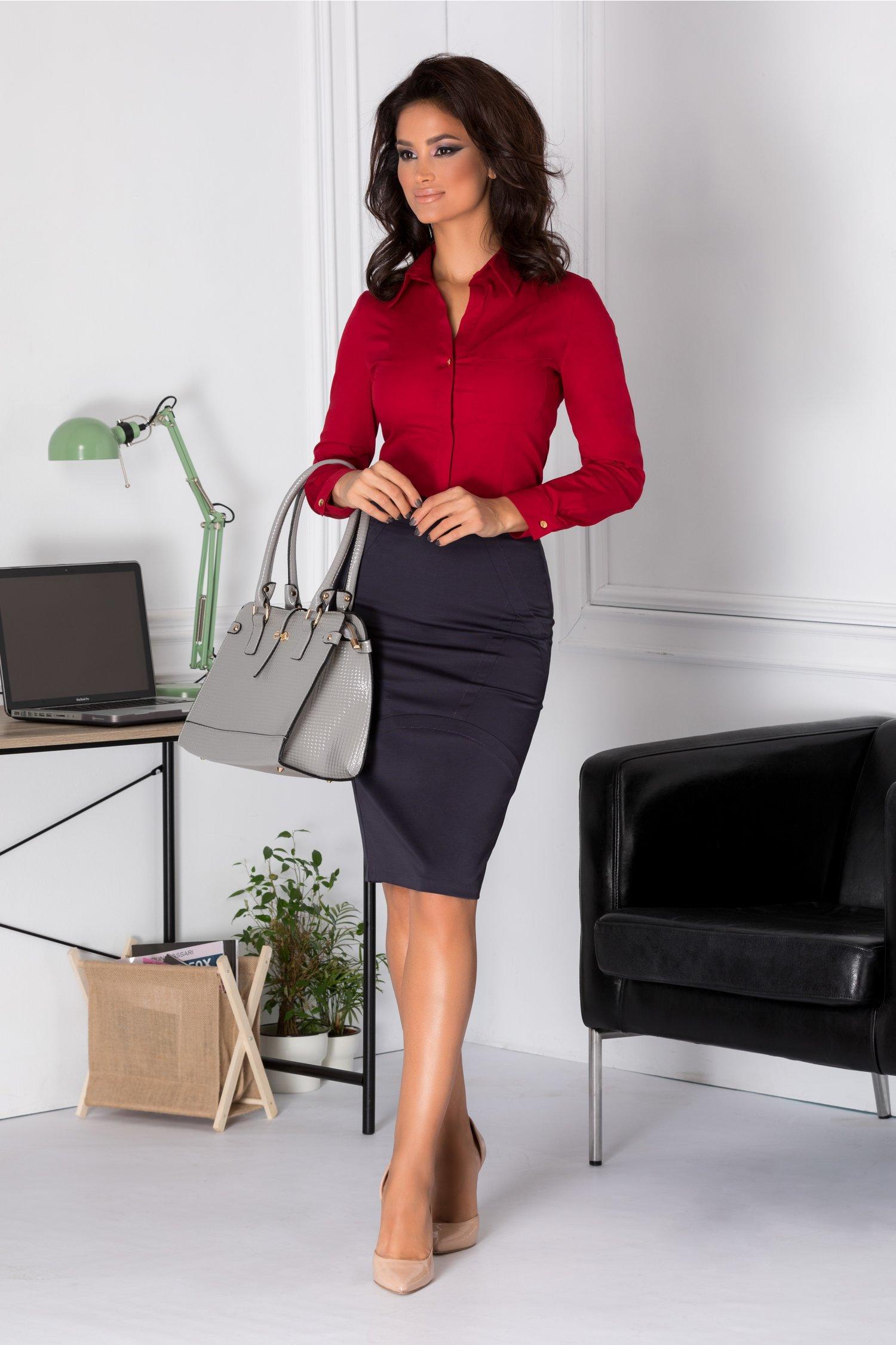 Rochie Natalia office bleumarin