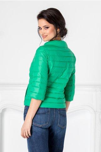 Geaca Amina verde cu maneci trei sferturi
