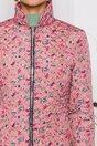 Geaca Ella Collection Natasha roz coniac cu imprimeuri florale
