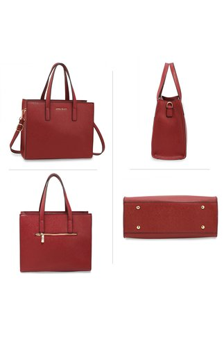 Geanta burgundy office eleganta