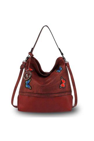 Geanta Butterfly sac burgundy