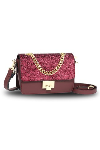 Geanta Glitter burgundy