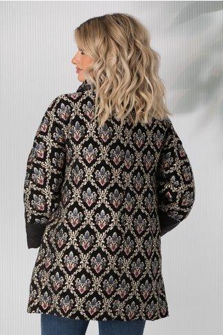 Jacheta Adele neagra cu imprimeu floral