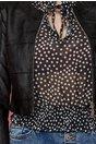 Jacheta Astrid neagra scurta din piele ecologica si insertii din tull