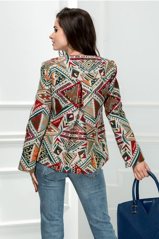 Jacheta Crista casual cu imprimeuri elegante