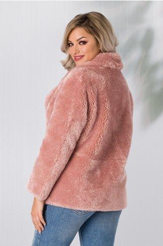 Jacheta din blanita ecologica roz