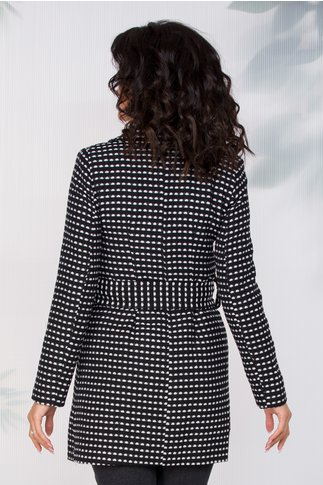 Jacheta Moze pepit negru si alb