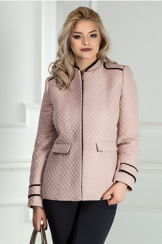 Jacheta Moze roz praf cu guler tunica