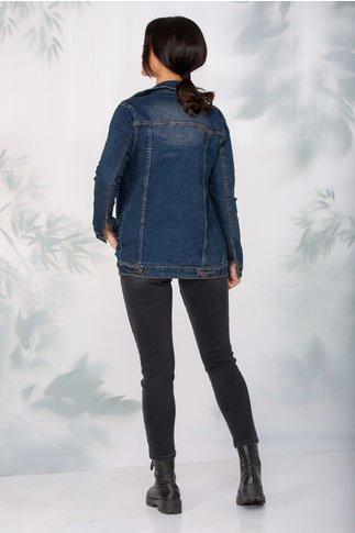 Jacheta Pixi din denim cu aspect uzat