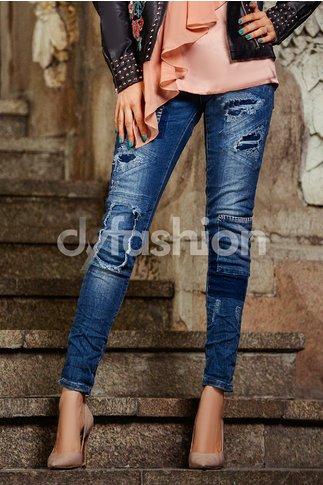 Jeans Albastri cu Petec