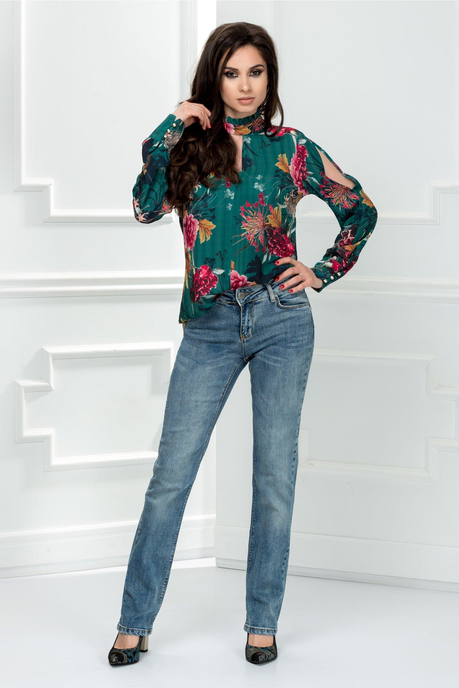 Jeans Ina albastri casual de zi