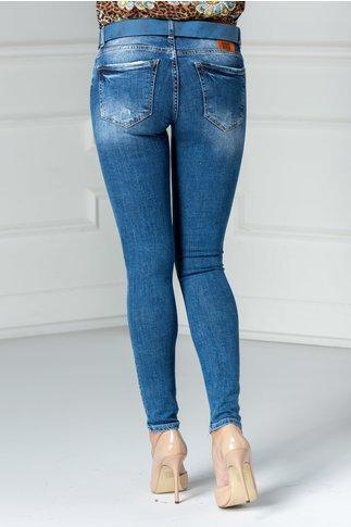 Jeans Renata albastri mulati casual