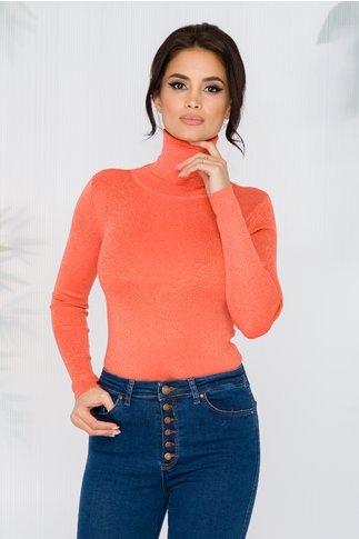 Maleta Juliana orange cu fir lurex