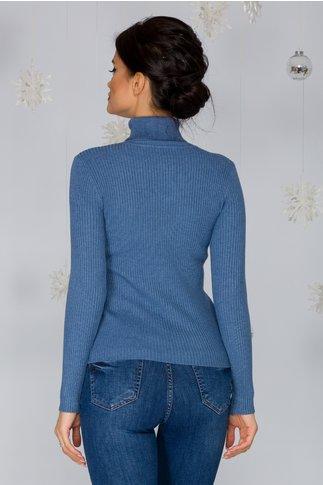 Maleta Stefania albastra cu striatii