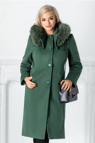 Mantou Miriam verde cu blanita detasabila