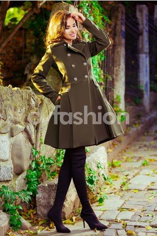 Palton Andrada Verde cu Design Vintage