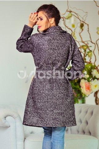 Palton Augustina Gri cu Blanita