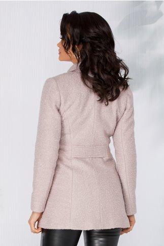 Palton Delia bej scurt