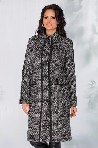 Palton LaDonna gri cu imprimeu pixelat