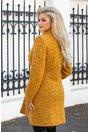 Palton Leonard Collection galben mustar cu insertii negre