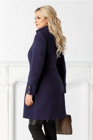 Palton Moze bleumarin midi de iarna