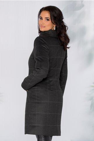 Palton Moze gri clasic cu dungi
