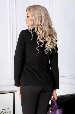 Palton Moze scurt necambramt negru