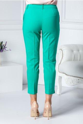Pantalon Aby verde office cu dunga