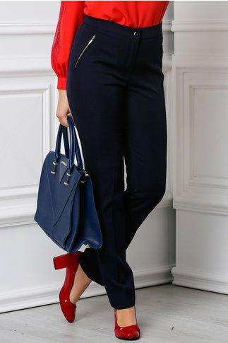 Pantalon Alberta bleumarin office elegant
