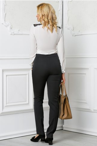 Pantalon Alberta gri office elegant