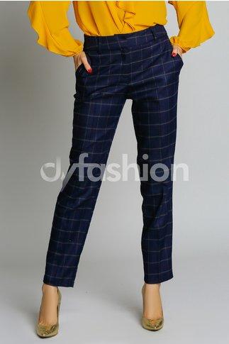 Pantalon Anida Pana Bleumarin din Stofa