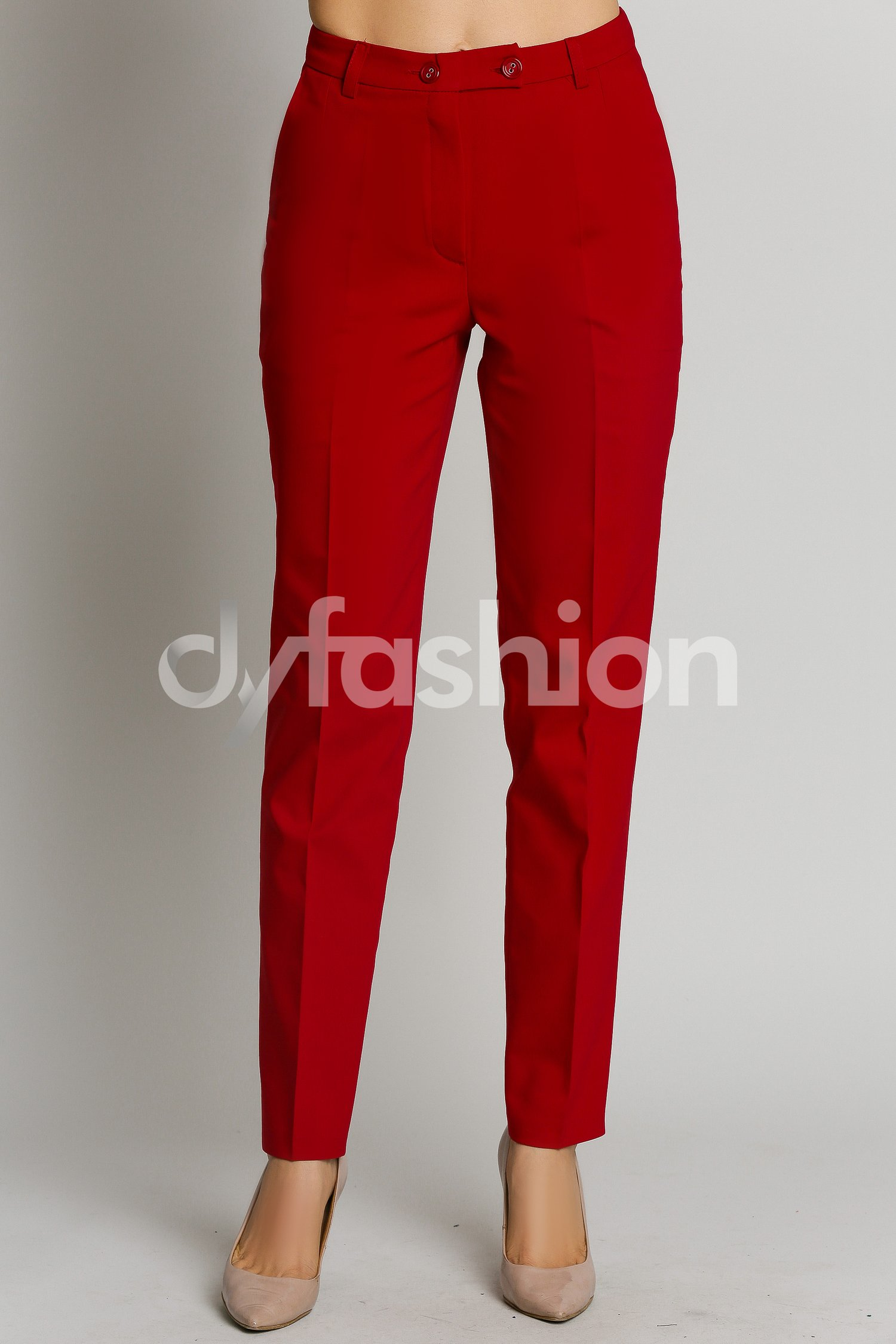 Pantalon Berta Rosu Office Elegant