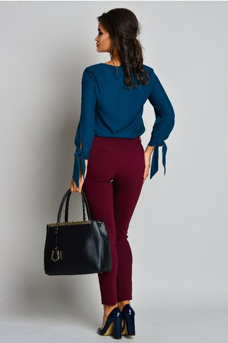 Pantalon Bonnie Bordo Office Eleganti