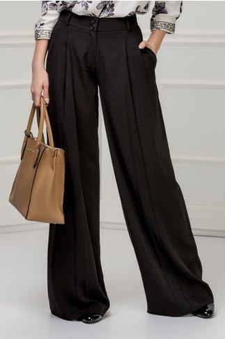 Pantalon Brise negru evazat