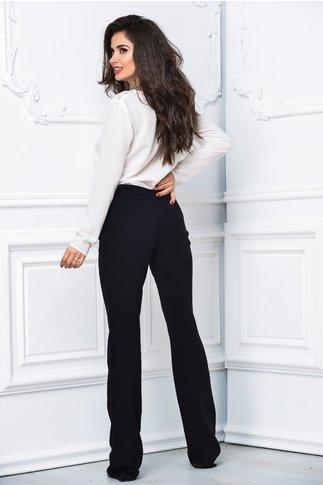 Pantalon Brise negru lung evazat lejer