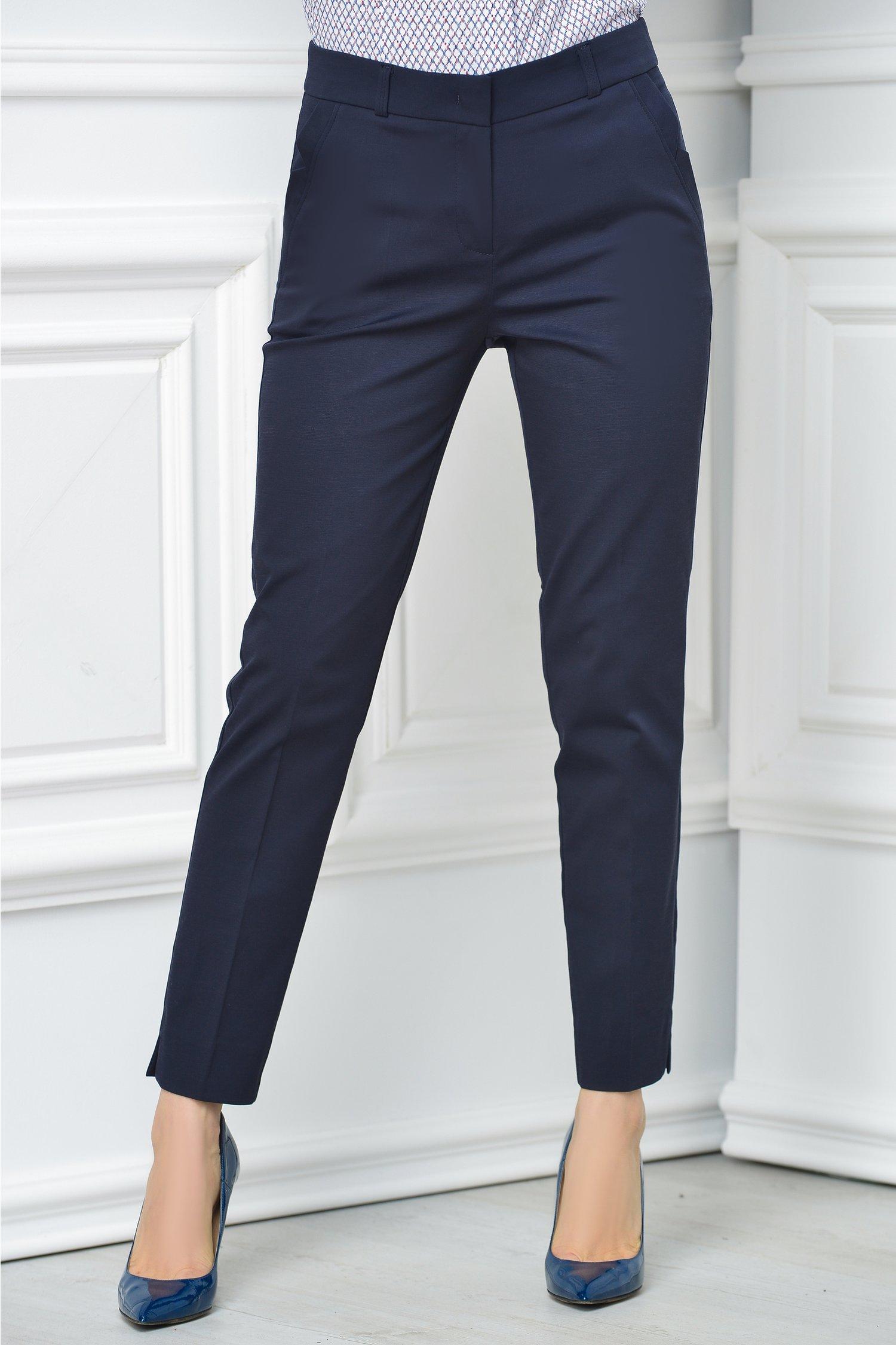 Pantalon Carola bleumarin office elegant
