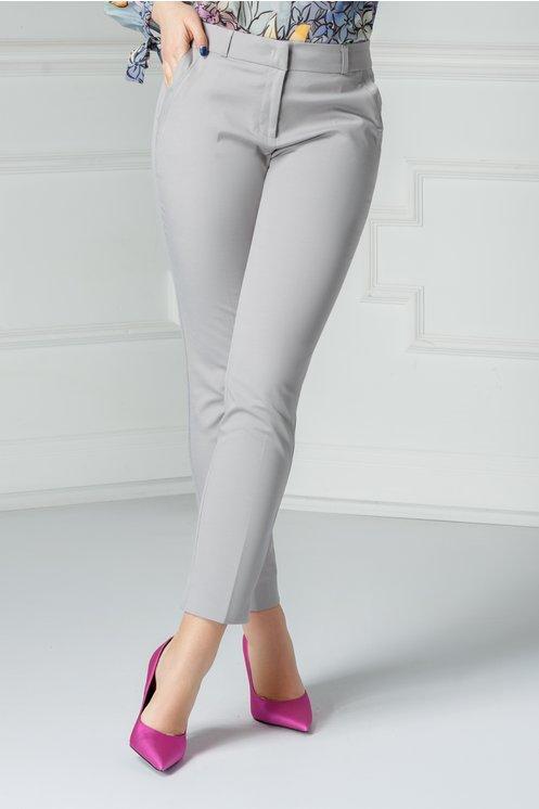 Pantalon Carola gri office elegant