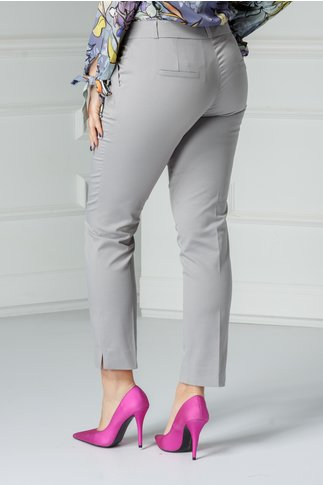Pantalon Carola gri office elegant