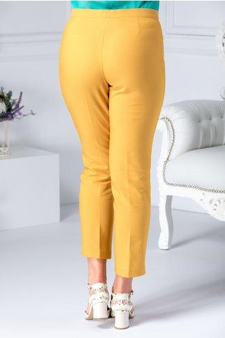 Pantalon Dalida bej cu dunga office
