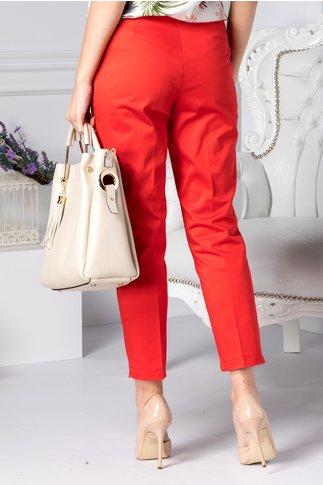 Pantalon Dalida rosii cu dunga office
