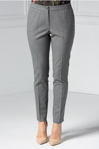 Pantalon dama gri office din stofa